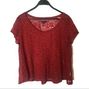American Eagle Lace Short Sleeve
